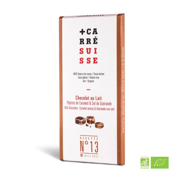 ORGANIC - Milk & Caramel Chocolate - 100g bar - 10/cs