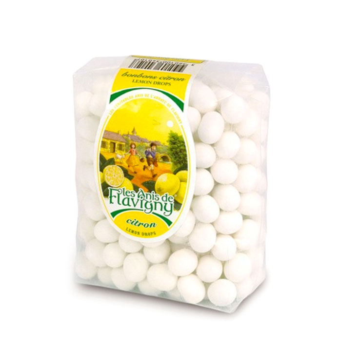 Lemon drops in bulk bag 250g/8.8oz - 10/cs