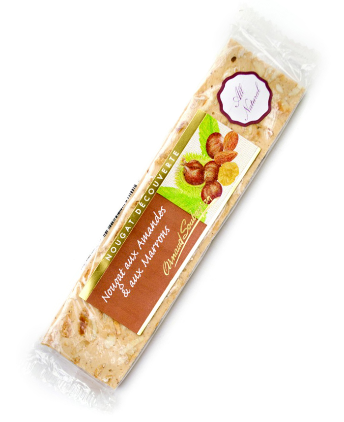 Almond & Chestnut Nougat Bar 100g/3.5oz - AS571 - 10/cs