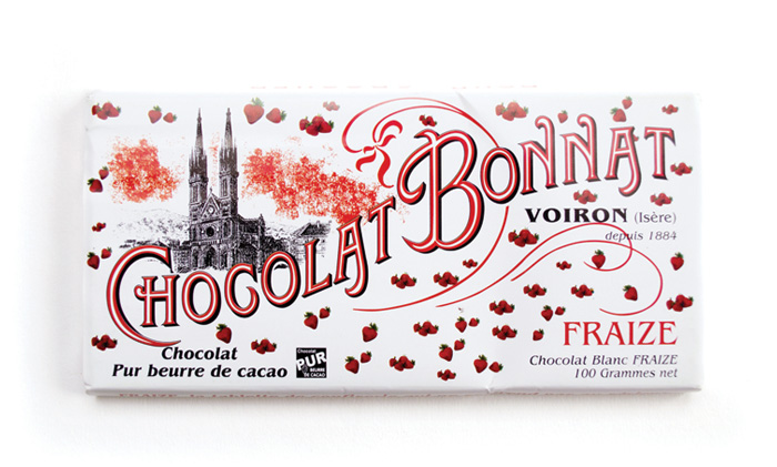 White Chocolate Bar with Strawberries 100g/3.5oz - BO841