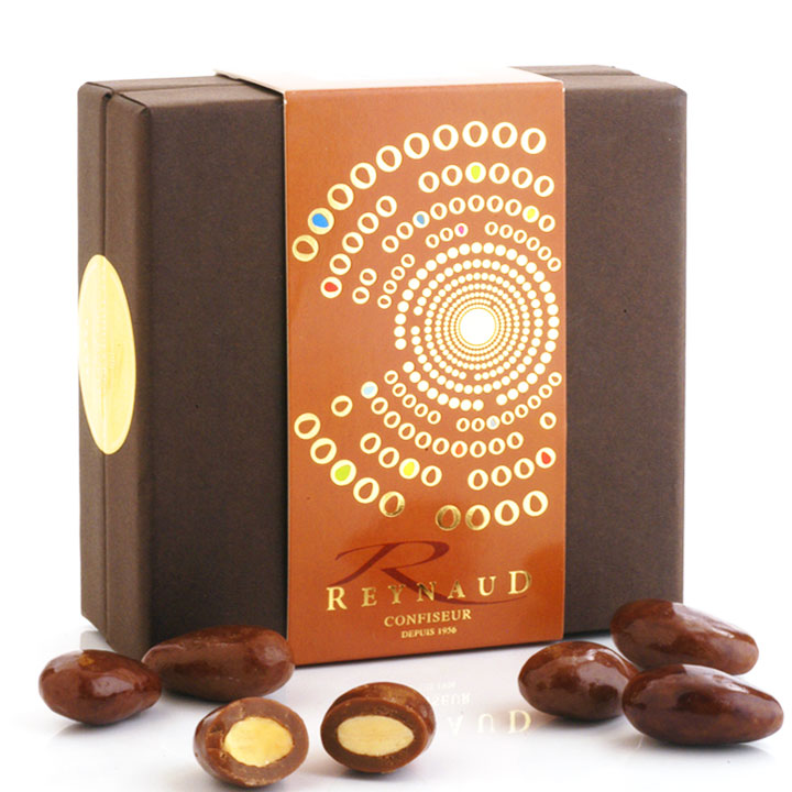 Milk Chocolate & Salted Caramel Almonds - 150g/5.3oz - 6/cs