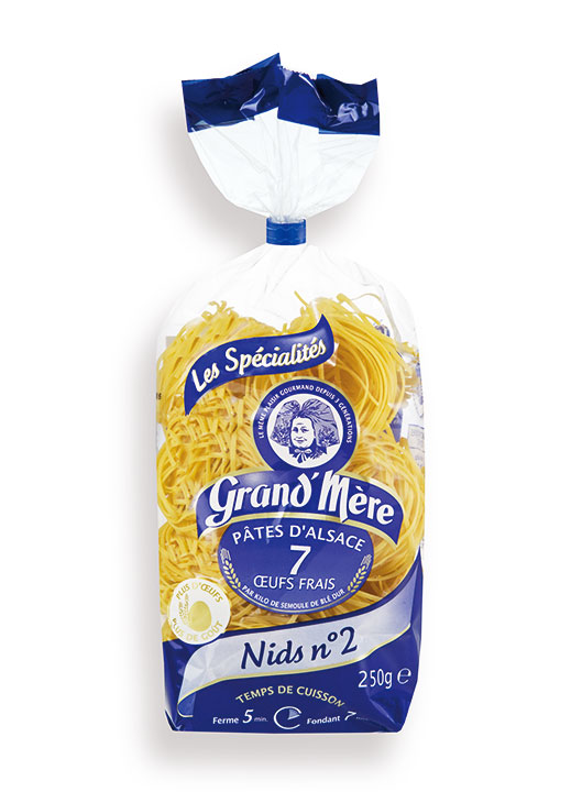 Nest Pasta 2mm 250g bag/8.8oz - 20/cs - GM101