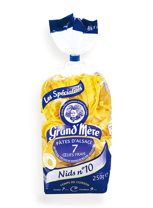 Nest Pasta 10mm 250g bag/8.8oz - 20/cs - GM103