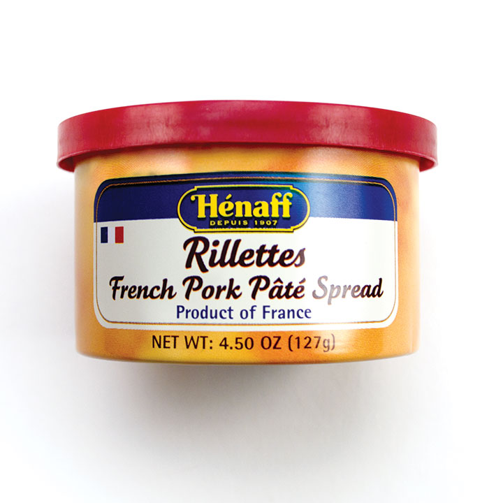 Henaff Rillettes Pork Pate Spread - 4.5 oz/127g - 12/cs