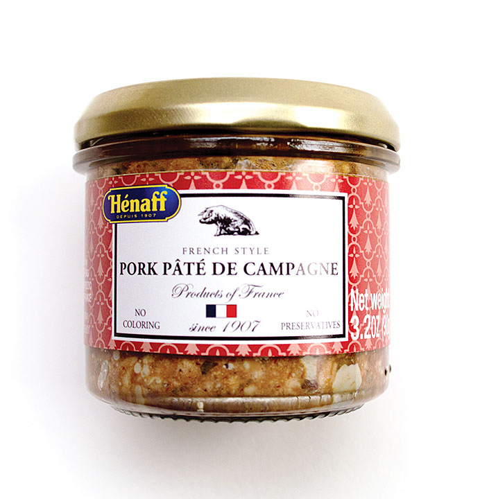 Henaff Pork Pate de Campagne - 90g/3.2 oz Glass jar - JH239 - 12/cs