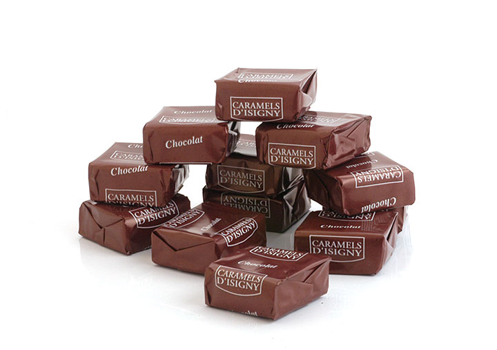 Chocolate Caramels w/ Isigny Butter - 144 pcs - 2kg/4.4lbs - 1/cs