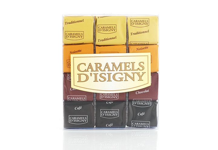 "Mixed Caramels ""Tradition"" - 12 pcs in clear box"
