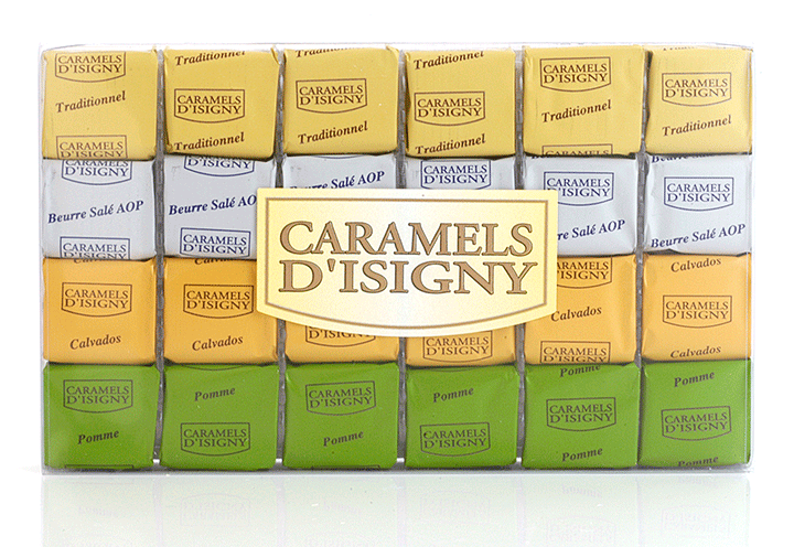 "Mixed Caramels ""Normandie"" - 24 pcs in clear box"