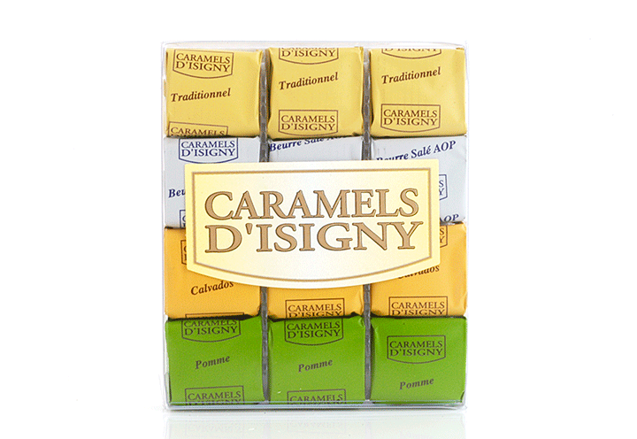 "Mixed Caramels ""Normandie"" - 12 pcs in clear box"