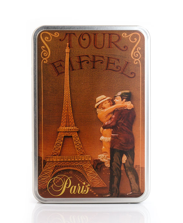 "Tour Eiffel tin - ""Normandie"" mix - 250g/8.8oz - 12/cs"