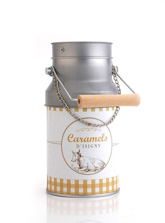 Small Milk can tin - Salted Butter Caramels 75g/2.65oz - 12/cs