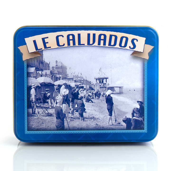 """Calvados"" tin - Mixed Caramels ""Normandie"" 150g/5.30oz - 12/cs"