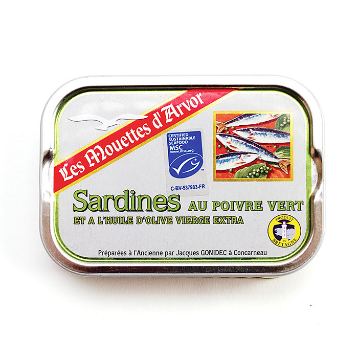 Sardines Green Peppercorn - 115g/4 oz - 12/cs - GO267