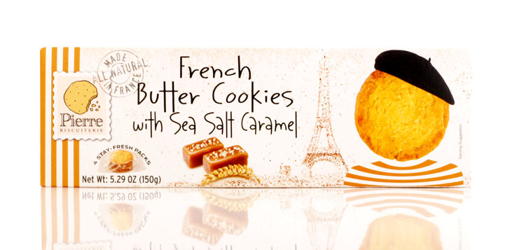 French cookies with sea salt and Caramel 150g/5.29oz - 10/cs - A9550