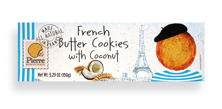 Coconut French Butter Cookies 5.29oz/150g - 10/cs - A3022