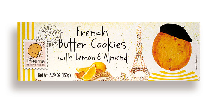 Lemon and Almond French Butter Cookies 5.29oz/150g - 10/cs - A3251