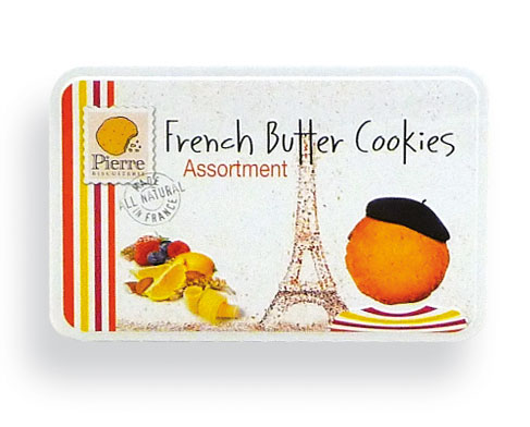 Assorted Butter Cookies & Assorted color tins (Yellow +Orange+ Pink) 7.40 oz - 4th Qtr. Only - A3252
