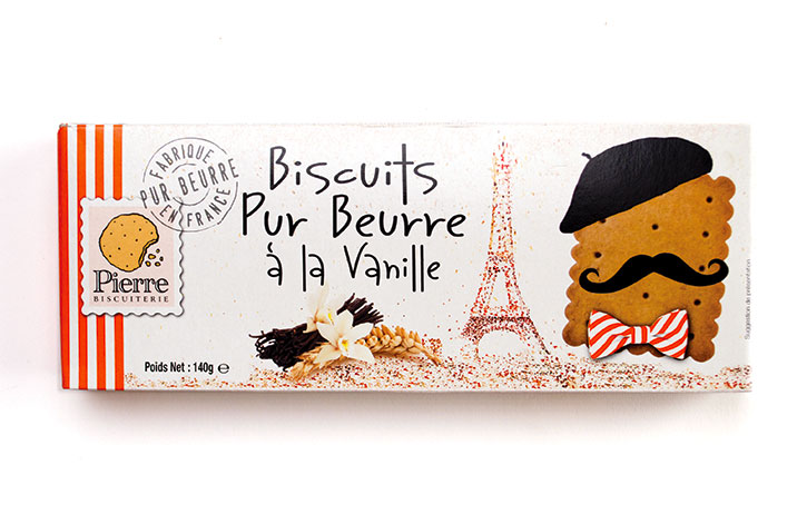 French Style Vanilla Butter Cookies 140g/4.94 oz. - 12/cs - A8706