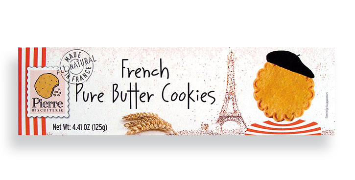 French pure butter cookies 125g/4.41oz. - 12/cs - A890