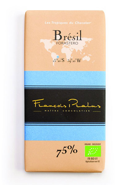 Brazil 75% Cocoa bar 100g/3.5oz - 6/cs - FE01