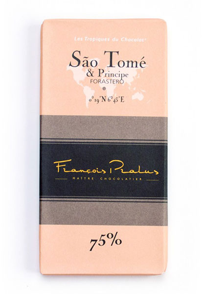 Sao Tome 75% Cocoa bar 100g/3.5oz - 6/cs - FE10
