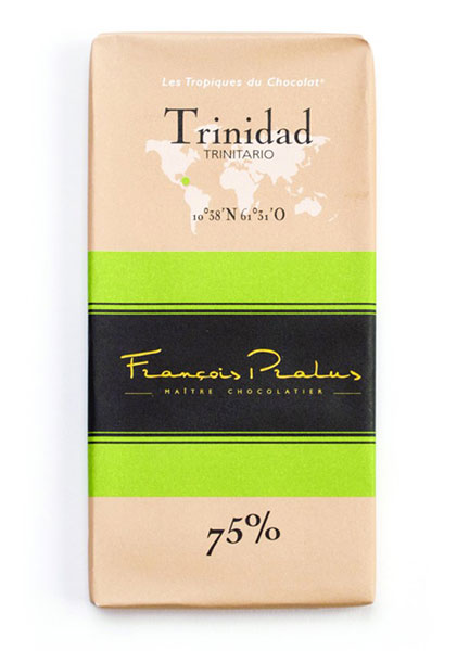 Trinidad 75% Cocoa bar 100g/3.5oz - 6/cs - FE12