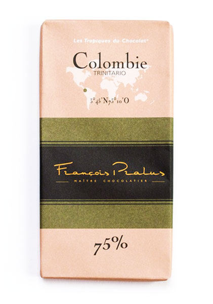 Colombie 75% Cocoa bar 100g/3.5oz - 6/cs - FE02