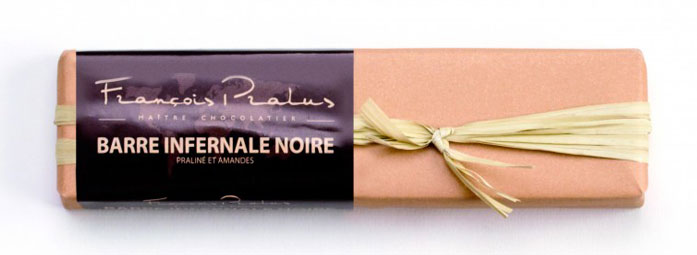 Barre Infernale Dark, Praline & Roast. Almonds 160g/5.6oz - 6/cs - FE26