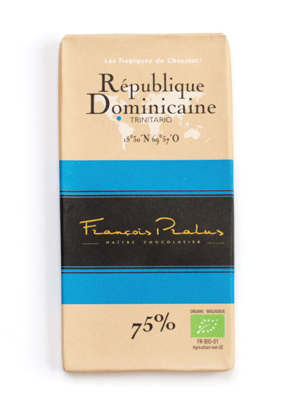 Dominican Republic 75% Cocoa bar 100g/3.5oz - 6/cs - FE29