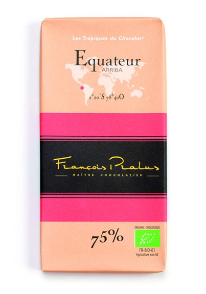 Ecuador 75% Cocoa bar 100g/3.5oz - 6/cs - FE04