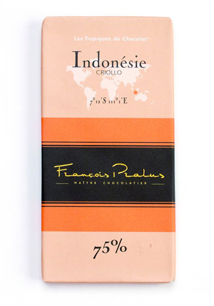 Indonesia 75% Cocoa bar 100g/3.5oz - 6/cs - FE06
