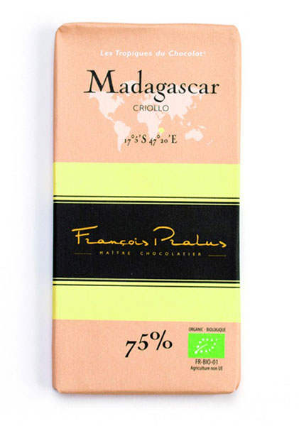 Madagascar 75% Cocoa bar 100g/3.5oz - 6/cs - FE07