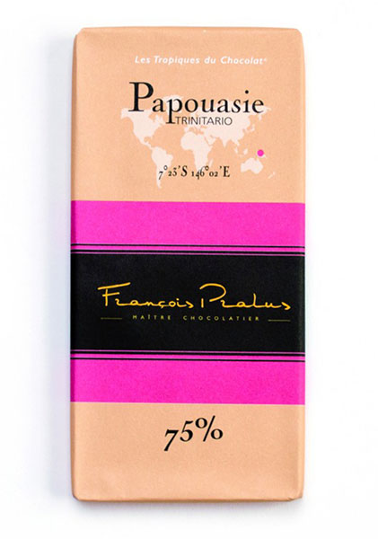 Papouasie New Guinea 75% Cocoa bar 100g/3.5oz - 6/cs - FE09