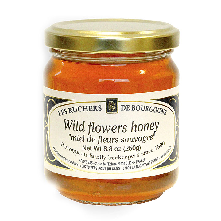 Wild Flower Honey - 250g/8.8 oz - 6/cs - RB1022