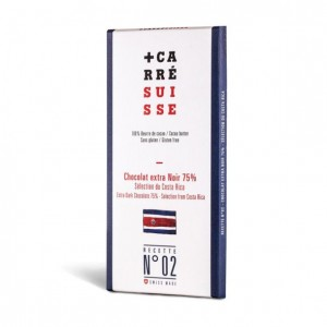 No. 02 - Costa Rica 75% Extra Dark - 100g bar - 10/cs